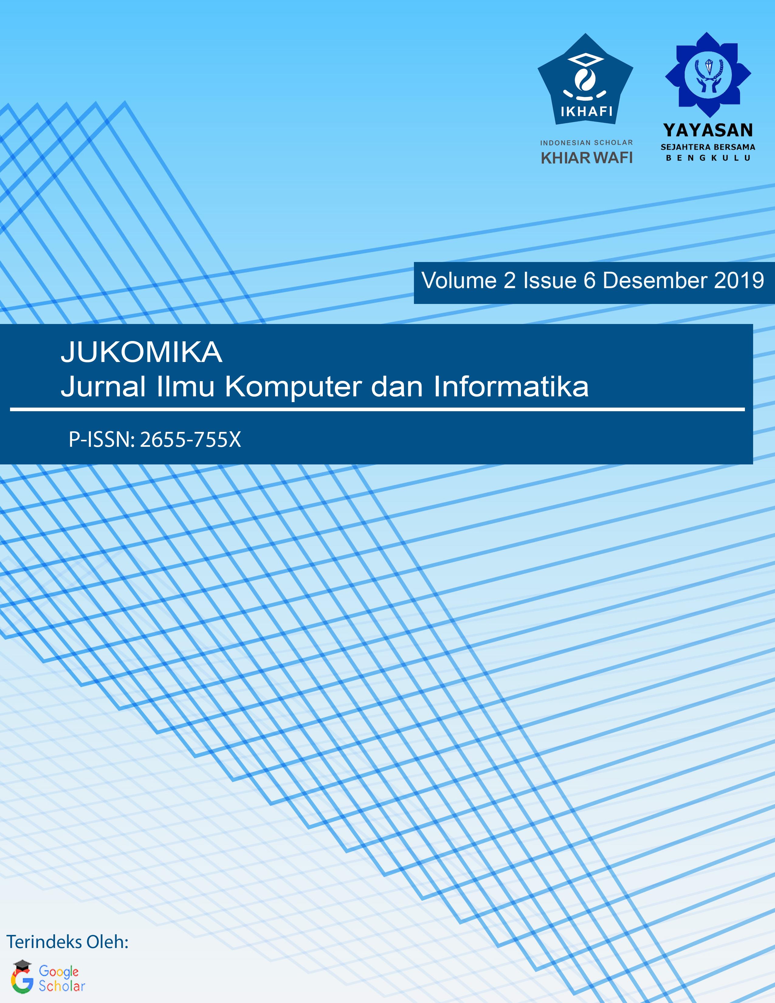 Jukomika Jurnal Ilmu Komputer Dan Informatika
